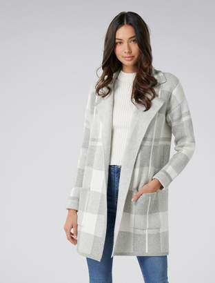 Ever New Brielle Knitted Check Coatigan