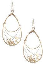 Nakamol Wire-Wrapped Pearl Teardrop Earrings, White