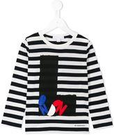 Burberry London print striped top