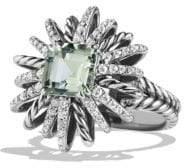 David Yurman Starburst Ring with Diamonds in Silver, 23MM
