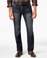 INC International Concepts Men's Jones Slim Straight Fit Dark Blue Wash Jeans, Only at Macy's