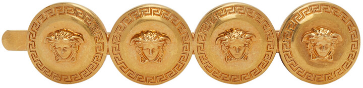 Thumbnail for your product : Versace Gold Four-Coin Barrette