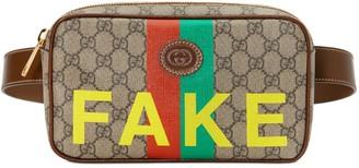 Gucci 'Fake/Not' print belt bag