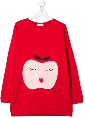 Sonia Rykiel Enfant TEEN apple patch sweatshirt