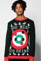 Boohoo Bullseye Christmas Jumper