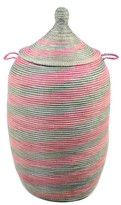 The Well Appointed House Large Pink & Silver Spiral Hamper
