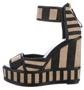Pierre Hardy Raffia Wedge Sandals