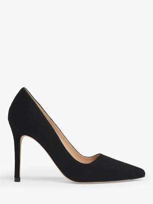 LK Bennett Katie Stiletto Heel Suede Court Shoes, Black