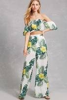 Forever 21 FOREVER 21+ Tropical Wide Leg Pants