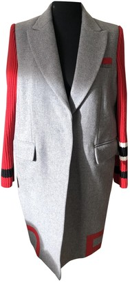 Pinko Grey Wool Coat for Women