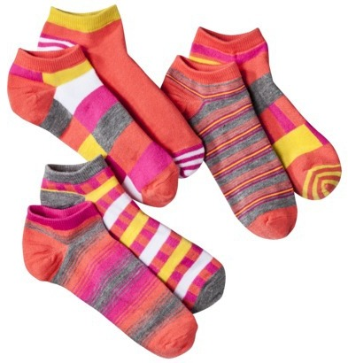 Xhilaration Juniors 6 Single Low Cut Mix and Match Socks - Assorted Colors/Patterns