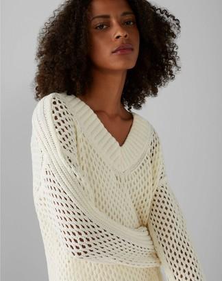 Club Monaco Mesh Boucle Sweater