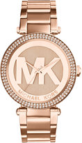 Michael Kors Women's Parker Rose Gold-Tone Stainless Steel Bracelet Watch 39mm MK5865