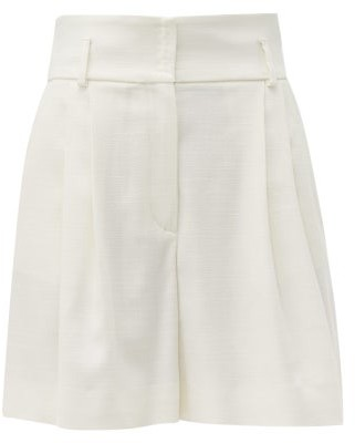 Dolce & Gabbana High-rise Canvas Shorts - Womens - White