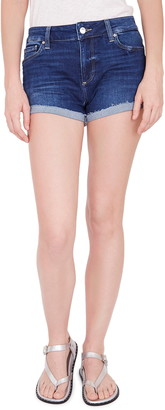 Paige JJ High Waist Raw Cuff Denim Shorts