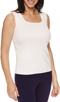 Sag Harbor Sleeveless Square Neck Pullover Sweater