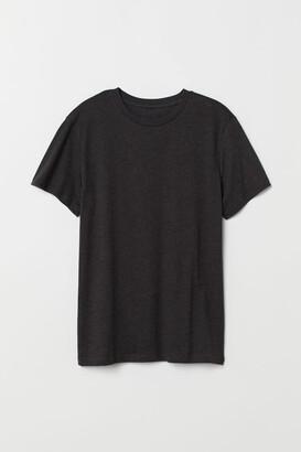 H&M Regular Fit Crew-neck T-shirt - Black