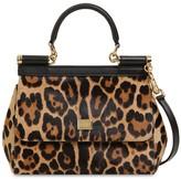 Dolce & Gabbana SMALL SICILY PONYSKIN TOP HANDLE BAG