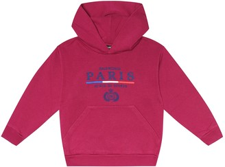 Balenciaga Kids Logo-embroidered cotton hoodie