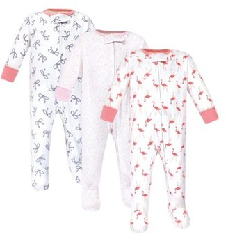 N. Yoga Sprout Zipper Sleep Play, 3pk (Baby Girls)