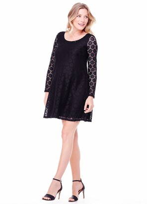 Ingrid & Isabel Women's Maternity Dot Lace Dress