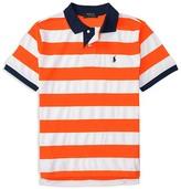 Ralph Lauren Boys' Striped Mesh Polo Shirt - Sizes S-XL