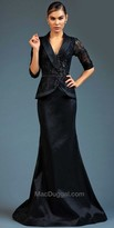 Mac Duggal Lace Blazer Trumpet Evening Gown