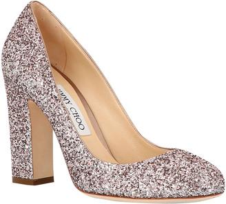Jimmy Choo Gold Glitter Heels