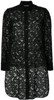 Neil Barrett geometric pattern long shirt