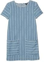 Tommy Hilfiger Stripe Denim Dress (Big Kids) (Nolita Wash) Girl's Dress