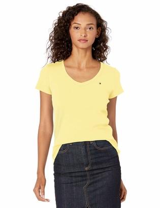 Tommy Hilfiger Women's Short Sleeve V-Neck Flag T-Shirt