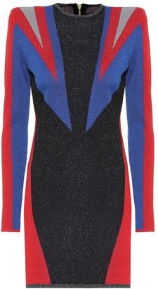 Puma x Balmain cotton-blend minidress