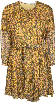 Derek Lam 10 Crosby printed belted mini dress