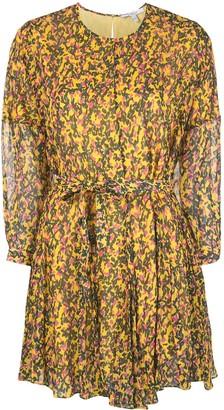 Derek Lam 10 Crosby Printed Belted Mini Dress