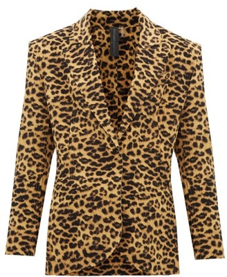 Norma Kamali Leopard-print Single-breasted Blazer - Leopard