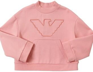 Emporio Armani Embroidered Cotton Blend Sweatshirt