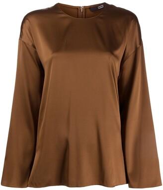 Steffen Schraut Oversized Silk Blouse
