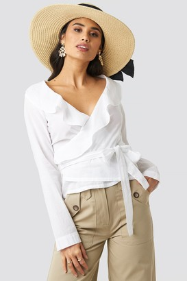 Rut & Circle Rut&Circle Frill Wrap Blouse White
