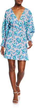 Rhode Resort Anya Floral Smocked Flounce Dress