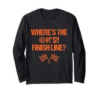 Finish Line Where's The Finish Line? Bike National Trails Day Bike Trail Long Sleeve T-Shirt