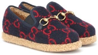 Gucci Kids Horsebit GG loafers