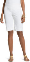 Chico's So Slimming Brigitte Shorts in Optic White -11 Inch Inseam