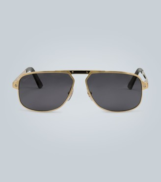 Cartier Eyewear Collection Gold frame sunglasses