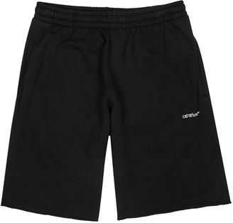 Off-White Stencil Black Cotton Shorts