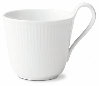 Royal Copenhagen Fluted High-Handle Coffee Mug - White