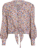 The East Order Sophie Chiffon Tie Front Blouse