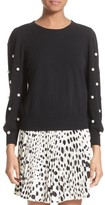 Marc Jacobs Women's Imitation Pearl Embellished Wool & Cashmere Sweater
