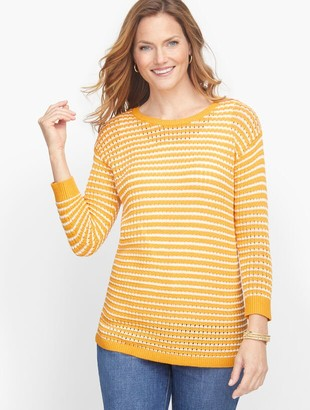 Talbots Mixed Yarn Sweater - Jungle Stripe