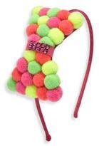 Bari Lynn Kid's Swarovski Crystal Pom-Pom Headband
