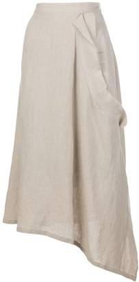 Y's asymmetric tie waist skirt